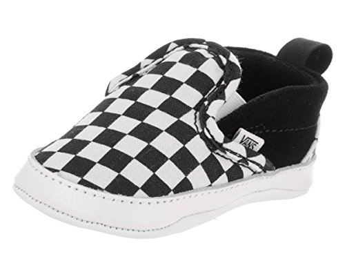 Vans Infant Checker Slip-On Black/True White Crib Size 4