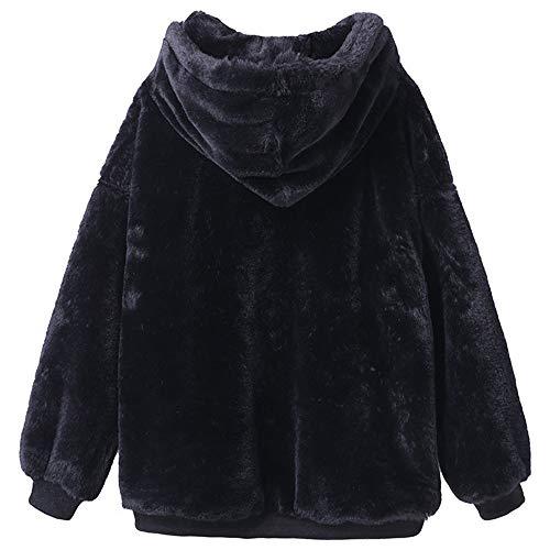 Pelliccia Morwind E Cappotto Black Invernali Giacche Felpa Cappotti Moda Inverno Sottile Autunno Donne Lungo 2018 Caldo Birichino Capispalla gZrgwq