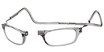 0c019848ecae Image Unavailable. Image not available for. Color  CliC Magnetic Closure Reading  Glasses XXL with Adjustable Headband Smoke 1.25