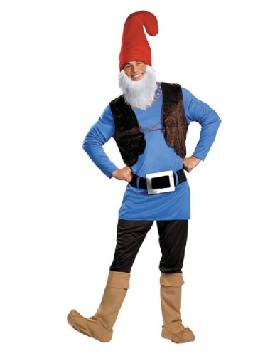 Good Halloween Costume With Beard (Disguise Men's Papa Gnome Costume, Blue/Brown/Red,)