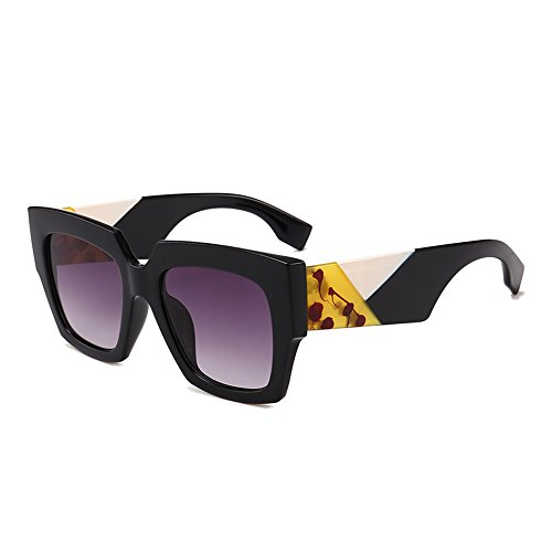 Gobiger Luxury Trendy Square Oversized Sunglasses for Women Brand Designer Shades (Black Frame, Gradient - Brands Glasses Luxury
