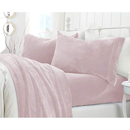 Great Bay Home Extra Soft Cozy Velvet Plush Sheet Set.