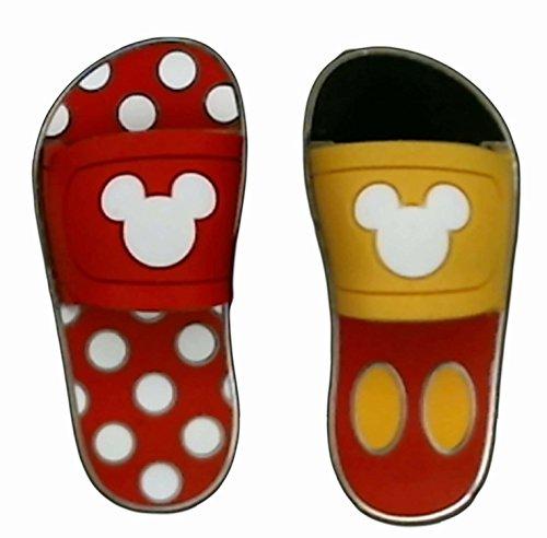 Disney Sandals/Flip Flops - Mickey & Minnie (2 Pin Set)