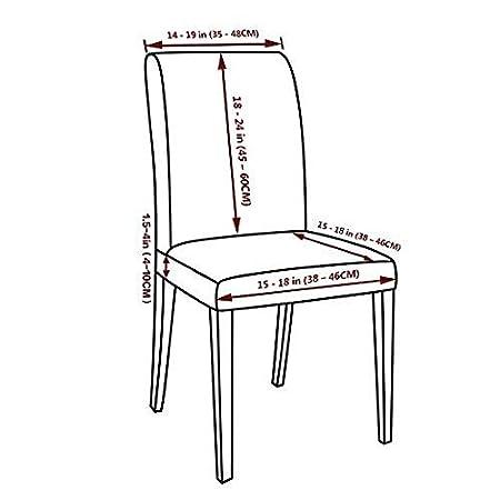Walkec Fundas para sillas Pack de 4 Fundas sillas Comedor Fundas elá ...