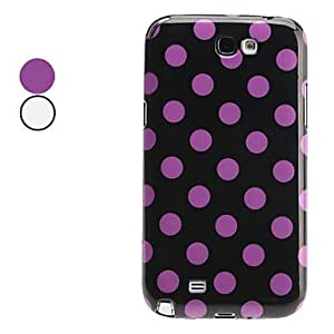 Polka Dots Pattern TPU Soft Case for Samsung Galaxy Note 2 N7100 (Assorted Colors) , White