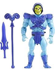 Masters of the Universe Origins skeletor actionfigur, stridskaraktär för berättande lek och display, present för 6 till 10-åringar och vuxna samlare