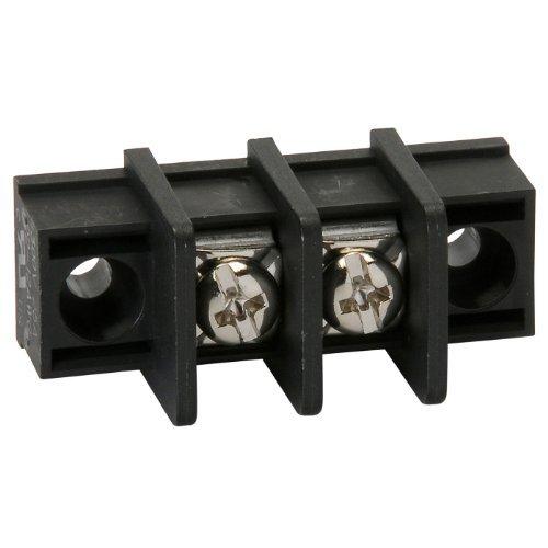 NTE Electronics 25-B100-02 Series 25-B100 Terminal Block Barrier Strip, Solder Lug Type, 25 Amp, 2 Pole, 9.50 mm Pitch, 300V, 22-12 AWG Wire Range