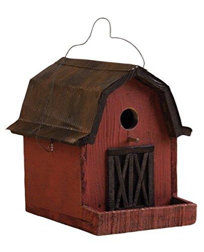 SONGBIRD ESSENTIALS 008115 Little Red Barn Birdhouse, Red/Copper Roof