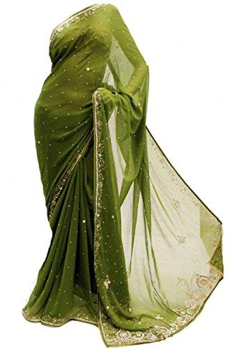 Gorgeous Green Saree - 1