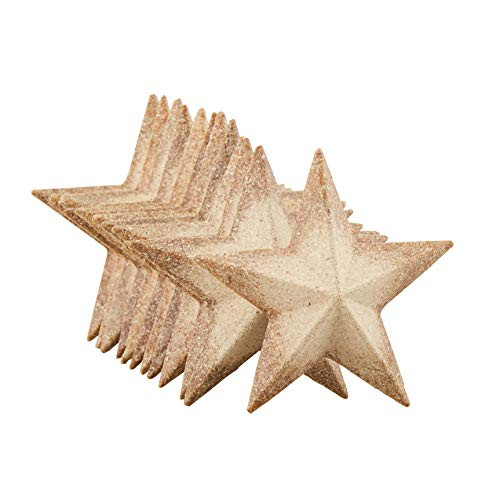 (Unfinished Wood Half 3D Stars - 12-Pack Flat 3D Wood Stars, Wood Cutouts, Star Shaped Wood Pieces, for Craft DIY Classroom Projects, Christmas Tree, Party, Home Decoration, 2.9 x 2.9 x 0.5 Inches)