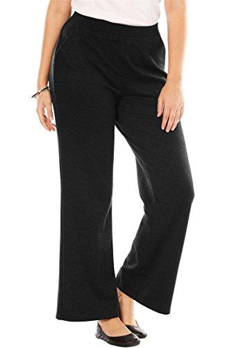 Woman Within Plus Size Petite Wide Leg Ponte Knit Pant