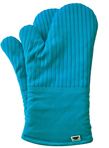 BIG RED HOUSE Oven Mitts, with the Heat Resistance of Silicone and Flexibility of Cotton, Recycled Cotton Infill, Terrycloth Lining, 480 F Heat Resistant Pair (Le Creuset Oven Mitt)