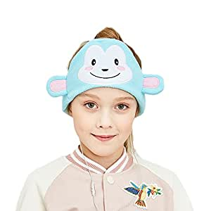 FIRIK Kids Headphones Volume Limited with Easy Adjustable Toddler Costume Silky Headband Headphones for Children, Perfect for Air Travel, Home and Christmas Birthday Gift - Monkey