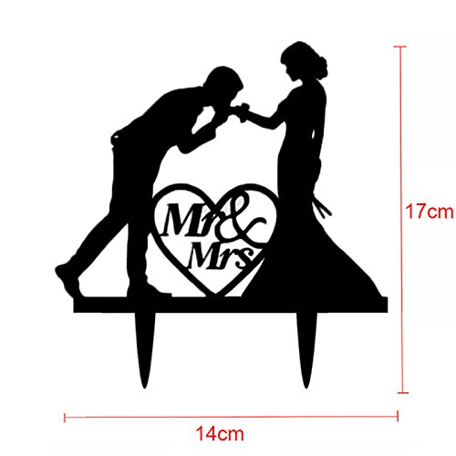 Wedding Cake Toppers Cake Topper - Cake Topper Wedding Mr Mrs Acrylic Black Toppers Romantic Bride Groom For Wedding Decoration Mariage Party Favors - Wedding Toppers (F) (Eve National Harbor Christmas)