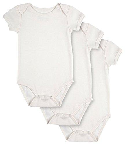 Pact Baby 3-Pack Short Sleeve, White, Newborn