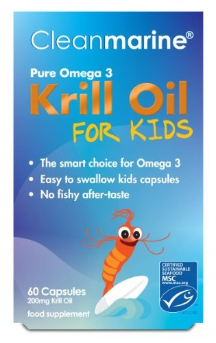 Clean Marine Krill Oil for Kids - 60 x 200mg Gelcaps