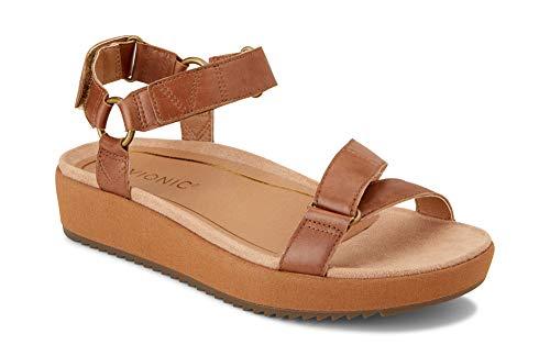 - Vionic Women's Tropic Kayan Backstrap Platform Sandal - Ladies Sandals Concealed Orthotic Support Toffee 11 W US