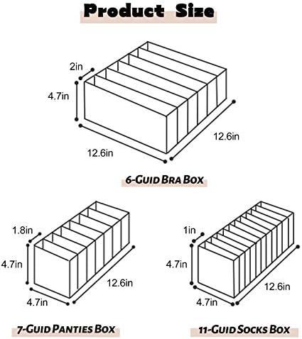 Zsroot Unterw/äsche Schubladen Organizer Aufbewahrungsbox F/ür Unterw/äsche Socken Faltbox Kleiderschrank Organizer f/ür BHS Unterhosen Und Krawatten Aufbewahrungsboxen