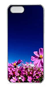 iPhone 5 5S Case Nature Pink Flowers PC Custom iPhone 5 5S Case Cover Transparent