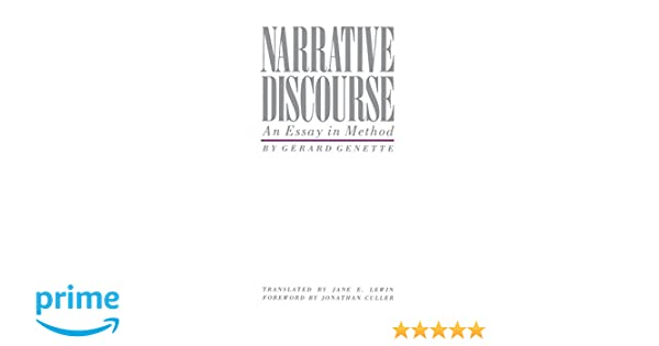 Amazoncom The Narrative Discourse An Essay In Method  Amazoncom The Narrative Discourse An Essay In Method   Gerard Genette Jane E Lewin Jonathan Culler Books