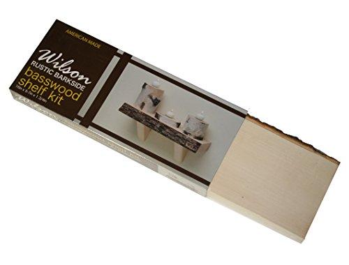 Wilson Enterprises Basswood Barkside Edge Shelf Kit, Natural Kiln Dried Wood Product, (16 inch Length)