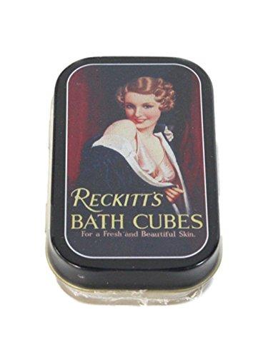 Vintage 1/2 oz Timeless Tin 'Reckitt's Bath Cubes' Keepsake Trinket Pill Box