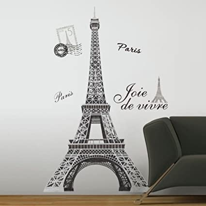 """New 6"""" EIFFEL TOWER GIANT WALL DECALS Mural France Paris Stickers Room  Decor"""