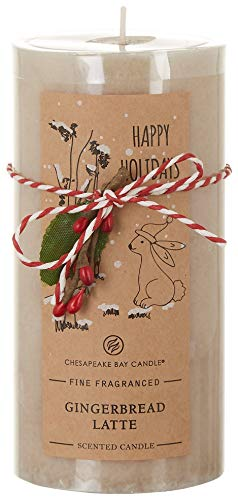 Chesapeake Bay Candle 6'' Gingerbread Latte Pillar Candle One Size Beige