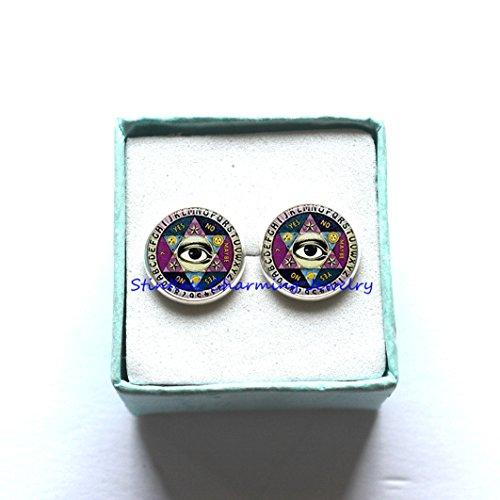 Psychic Reader Costume (Ouija board Earrings, Vintage Quiji Board Earrings,Reader Earrings, Halloween Earrings, Halloween Jewelry,Ouija Earrings)