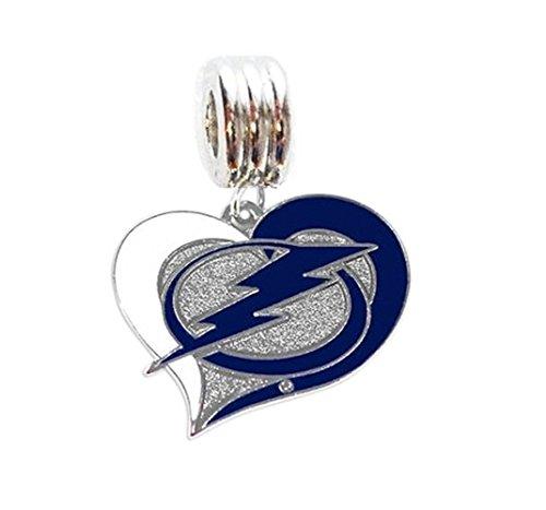Heavens Jewelry Tampa Bay Lightning Hockey Team Charm Slide Pendant for Necklace European Charm Bracelet (Fits Most Name Brands) DIY ETC