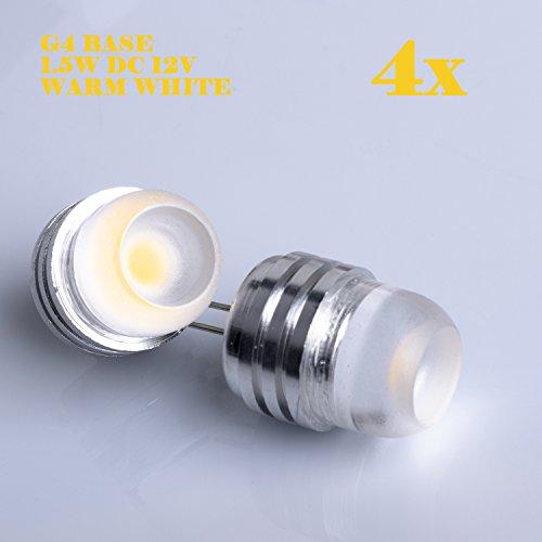 Weanas 4x G4 LED Light Bulb Lamp 1.5 Watt DC 12V Warm Whi...