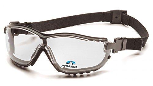 Pyramex Clear Bifocal Safety Reader Goggles, Anti-Fog