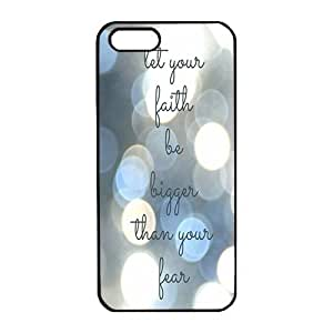 Case For Sam Sung Galaxy S4 Mini Cover ,DIY let your faith be bigger than your fear Black PC Phone Case Cover Protector Case For Sam Sung Galaxy S4 Mini Cover