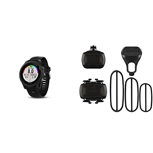 Garmin Forerunner 935 Running GPS Unit (Black) and Bike Speed Sensor and Cadence Sensor Bundle by