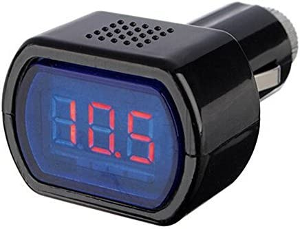 /24/V Voltage Indicator Aikesi The Voltmeter Car Battery Tester Red of the Exhibition Black 12/
