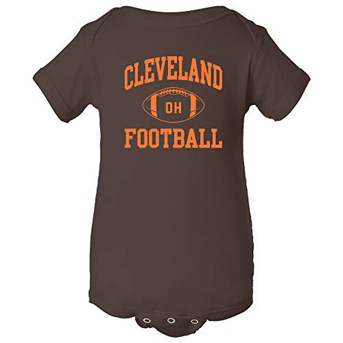 Cleveland Classic Football Arch - American Football Team Sports Infant Onesie - 12 Month - Brown