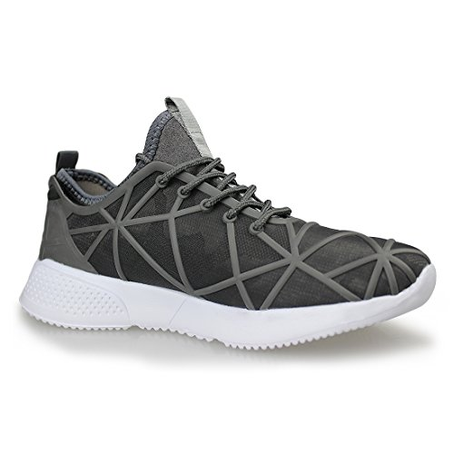 Hawkwell Heren Lichtgewicht Atletische Casual Fashion Sneaker 1839-grijs