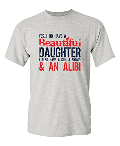 Yes-I-Have-A-Beautiful-Daughter-Funny-Fathers-Day-Novelty-T-Shirt-S-Black2