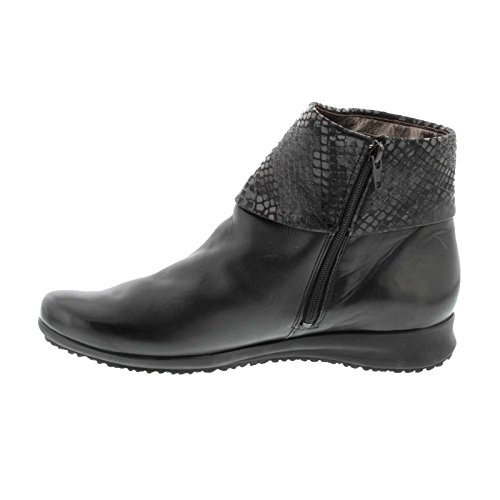 Mephisto Womens Fiducia Black Leather Boots 40 EU
