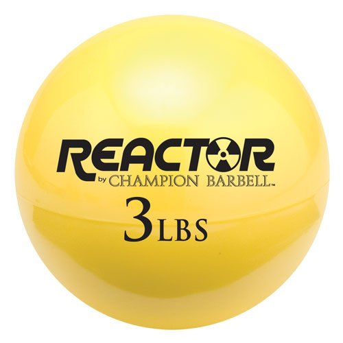 Champion Barbell Hand Held Fitness Ball, Yellow, 3-Pound