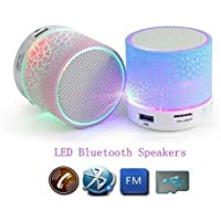 Drumstone A9 Smart Led Crack Mini Portable Bluetooth Speaker Supported Tf Card/USB Flash Drive/Fm