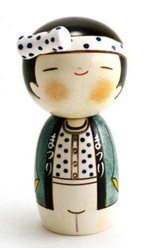 Best Creative Dolls - Japanese Creative Kokeshi Wooden Doll Boy