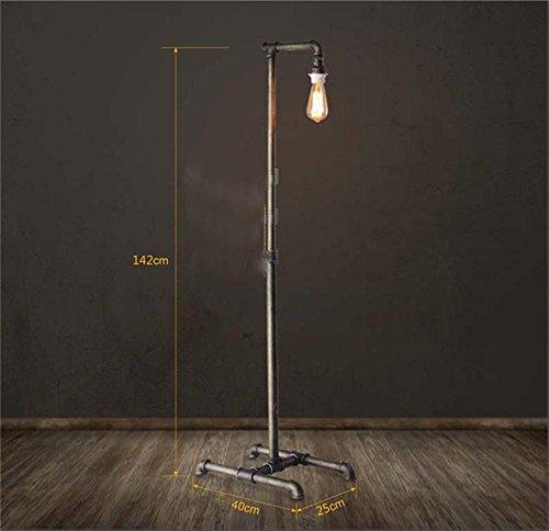 TOYM US-Industrial pipe floor lamp retro decorative wrought iron floor lamp living room by Floor Lamp (Image #4)