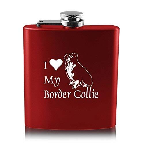高品質 6オンスステンレス鋼フラスコ Border – I Love Love My Border collie-red – B013RU41E0, Auggie:40e5bf36 --- nobumedia.com