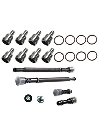 BLACKHORSE-RACING Fit for Ford 6.0L Updated Stand Pipe and Dummy Plugs + High Pressure Oil Rail Repair Kit