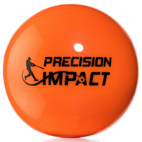 Precision Impact Firm Slugs: Heavy Weighted Practice Balls for Baseball/Softball; Hitting Training Aid (6-Pack) (Plastic Baseballs Training)