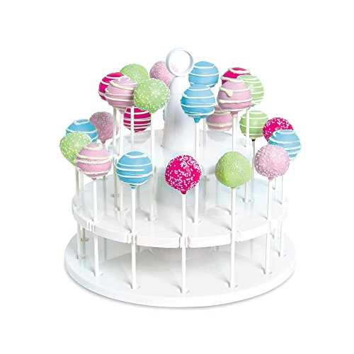 (Bakelicious 73861 Cake Pop Stand, 24-Piece, White)