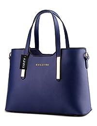 Tibes Luxury Pu Leather Handbag Fashion Shoulder Bag Tote