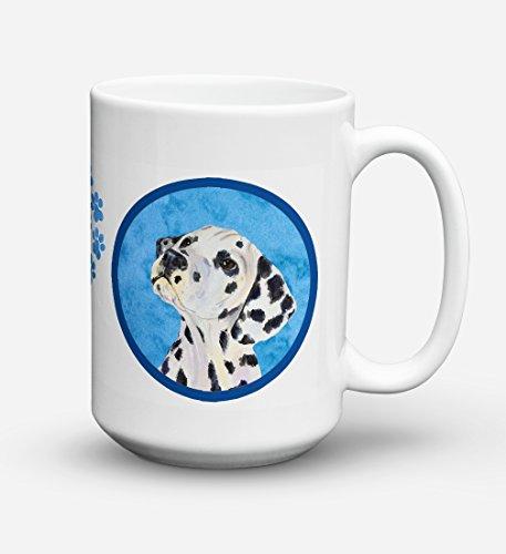 Caroline's Treasures SS4768-BU-CM15 Dalmatian Microwavable Ceramic Coffee Mug, 15 oz, Multicolor (Dalmatian Mug)