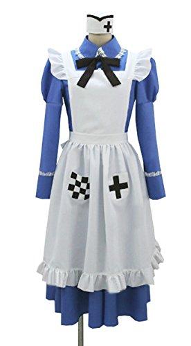 Dreamcosplay Anime Hetalia: Axis Powers UK Rosa Blue Maid Uniform Cosplay